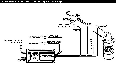 ford duraspark to msd ignition wiring diagram
